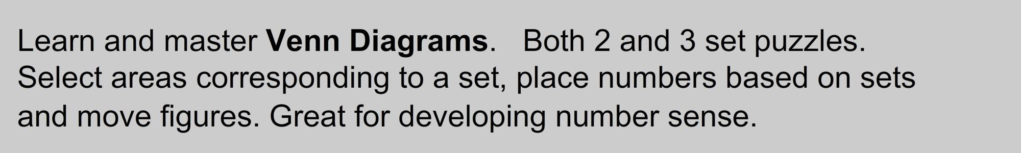 Number Venn - Beginners